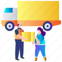 box, courier, delivery, package, service, shipping, transportation icon