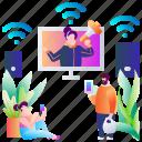 business, commerce, e, internet, online, shopping, web icon