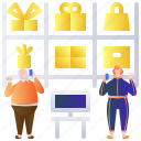 business, mall, retail, shop, stock, store, warehouse icon