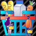 basket, food, market, purchase, shopping, store, supermarket icon