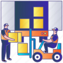 cargo, container, delivery, export, shipping, transport, transportation icon