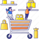 basket, business, buy, cart, commerce, sale, shopping icon