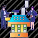 cashier, pay, payment, retail, shop, store, supermarket