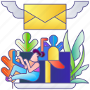 email, internet, letter, mail, message, newsletter, web icon