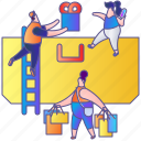bag, bags, buy, gift, sale, shop, shopping icon