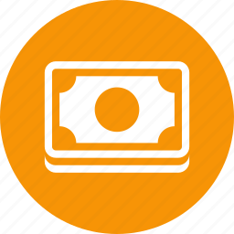 bill, cash, currency, dollars, money, payment icon