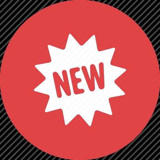 badge, burst, label, new, product, sign, sticker icon