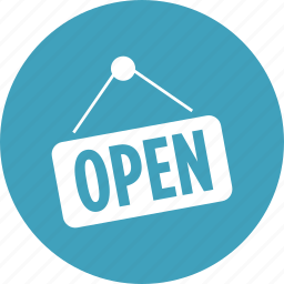 doorsign, hours, open, shopping, sign, store icon