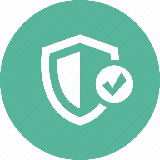 check, on, protect, protection, security, shield icon