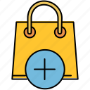 add, bag, buy, insert, new, shop, shopping icon