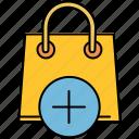 add, bag, buy, insert, new, shop, shopping icon