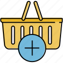add, basket, buy, insert, new, shop, shopping icon