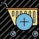 add, buy, cart, insert, new, shop, shopping icon