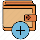 add, buy, insert, new, shop, shopping, wallet icon