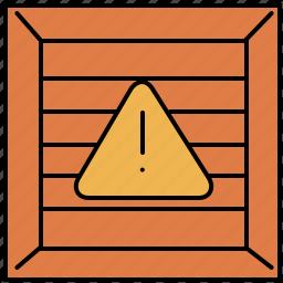 alert, buy, crate, shopping, warning icon