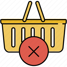 basket, buy, cancel, delete, shop, shopping icon