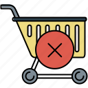 buy, cancel, cart, delete, shop, shopping icon