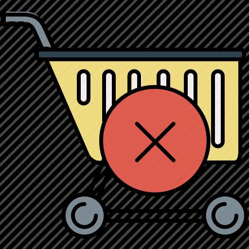 buy, cancel, cart, delete, shop, shopping icon