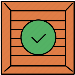 approve, buy, complete, confirm, crate, shop, shopping icon