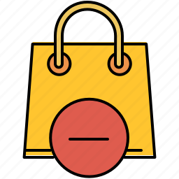 bag, buy, delete, online, remove, shop, shopping icon