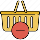 basket, buy, delete, online, remove, shop, shopping icon