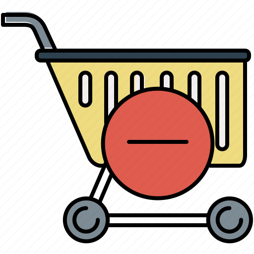 buy, cart, delete, online, remove, shop, shopping icon