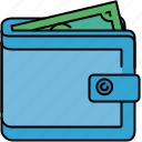 finance, full, money, payment, shopping, wallet icon