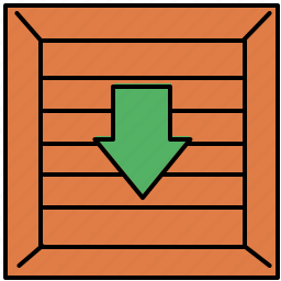 crate, enter, income, insert, shop, shopping icon