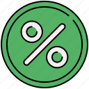 discount, percentage, shop, shopping, sticker icon