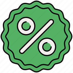 discount, percentage, shop, shopping, sticker icon