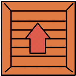 arrow, crate, extract, remove, shopping, up icon