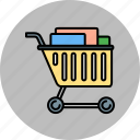 buy, cart, full, shop, shopping icon
