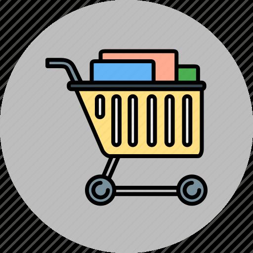 buy, cart, full, shop, shopping icon