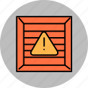 alert, buy, crate, error, shop, shopping, warning icon