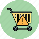 alert, cart, error, shop, shopping, warning icon