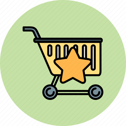 bookmark, buy, cart, favourite, shop, shopping, star icon