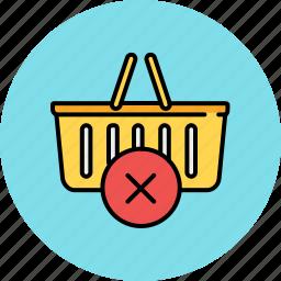 basket, buy, cancel, delete, shop, shopping icon