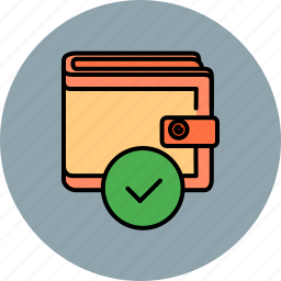 approve, complete, confirm, payment, shopping, wallet icon