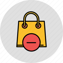 bag, buy, delete, remove, shop, shopping icon