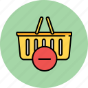 basket, buy, delete, remove, shop, shopping icon