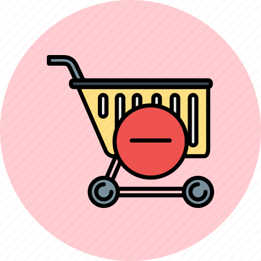 buy, cart, delete, remove, shop, shopping icon