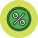 discount, percentage, sale, shop, shopping, sticker icon