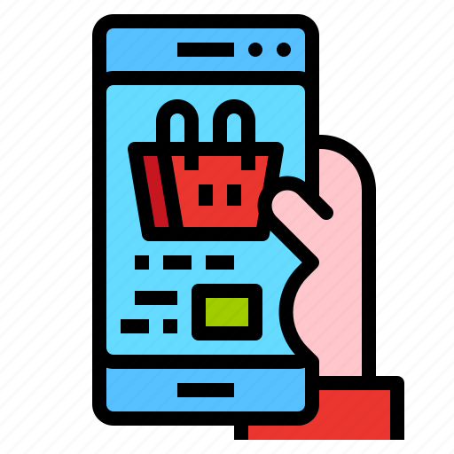application, buy, online, shopping, smartphone icon