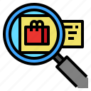 bag, goods, online, search, shopping icon