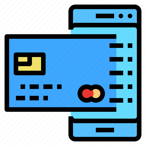 card, cedit, pay, shopping, smartphone icon