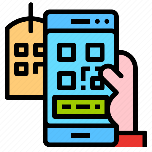 code, payment, qr, smartphone, tag icon