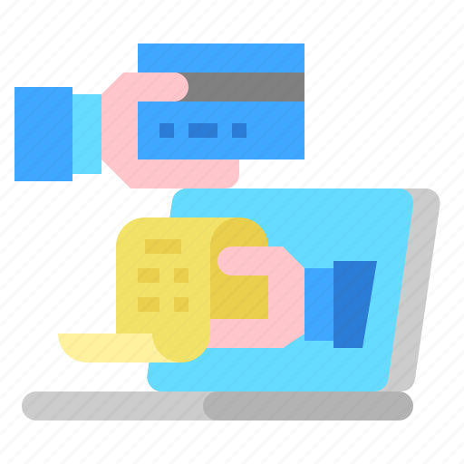 bill, card, cedit, hand, payment icon