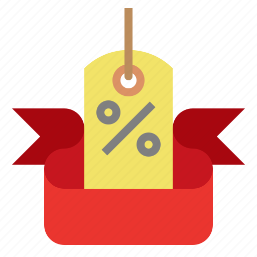 bag, event, percent, sale, shopping icon