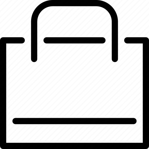 bag, carriage, e-commerce, items, line-icon, shopping, shopping-bag icon