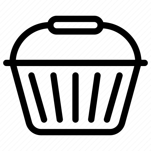 bag, basket, carriage, e-commerce, line-icon, shopping, store icon